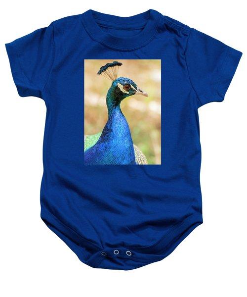 Beautiful Peacock Baby Onesie