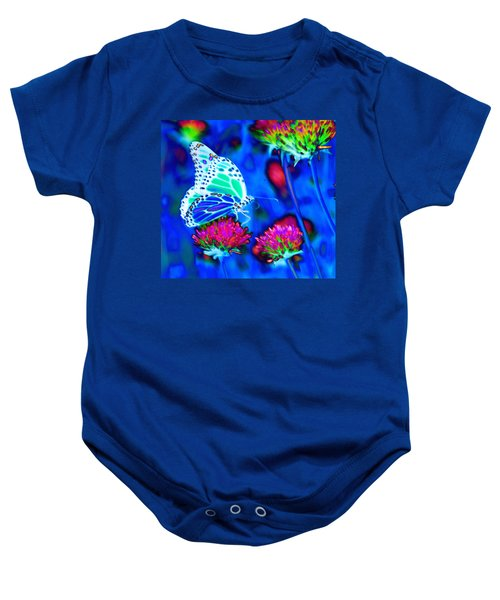 Butterfly Blue Baby Onesie