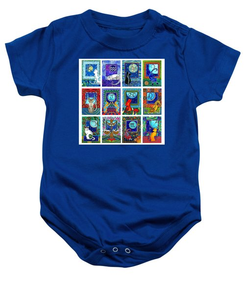 Cat Zodiac Paintings  Baby Onesie