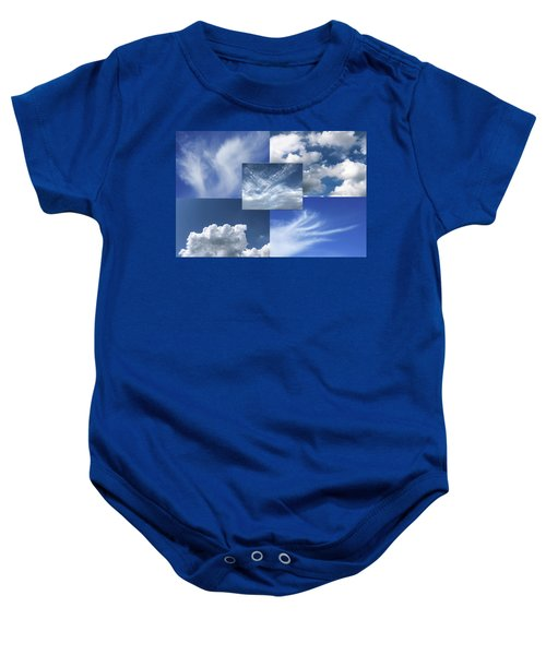 Cloud Collage Two Baby Onesie