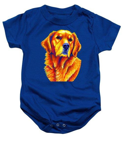 Colorful Golden Retriever Dog Baby Onesie