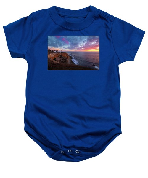 Colorful Sky After Sunset At Point Vicente Lighthouse Baby Onesie