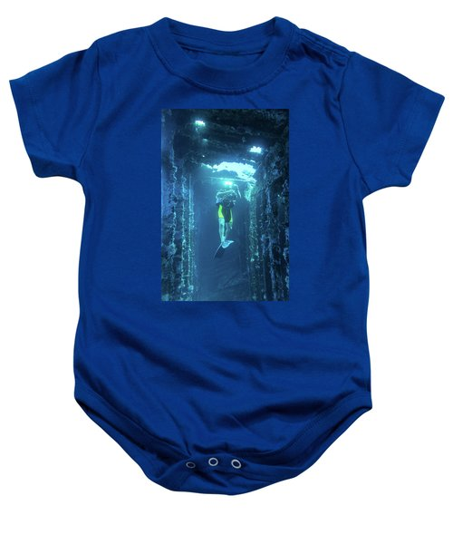 Diver In The Patris Shipwreck Baby Onesie