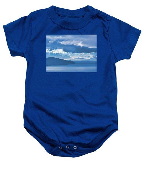Dreamy Kind Of Blue Baby Onesie