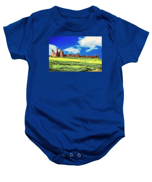 Dunstanburgh Castle In Oil Baby Onesie