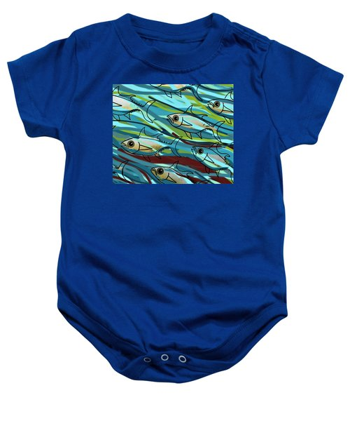 F Is For Fish Baby Onesie