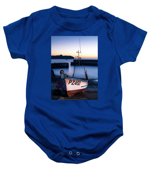 Fishing Boat In Mullion Cove Baby Onesie