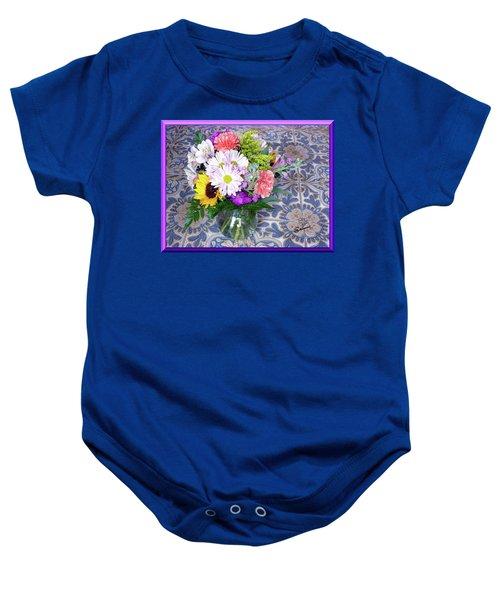 Flower Bouquet  Baby Onesie