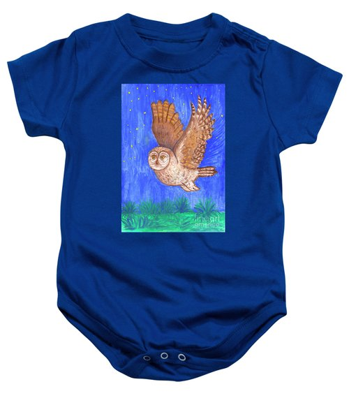Flying Owl Baby Onesie