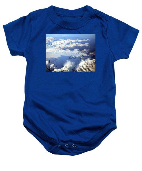 Icebound Mountains Baby Onesie