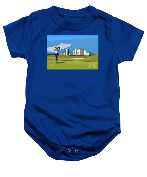 Justin Rose In Rio  Baby Onesie