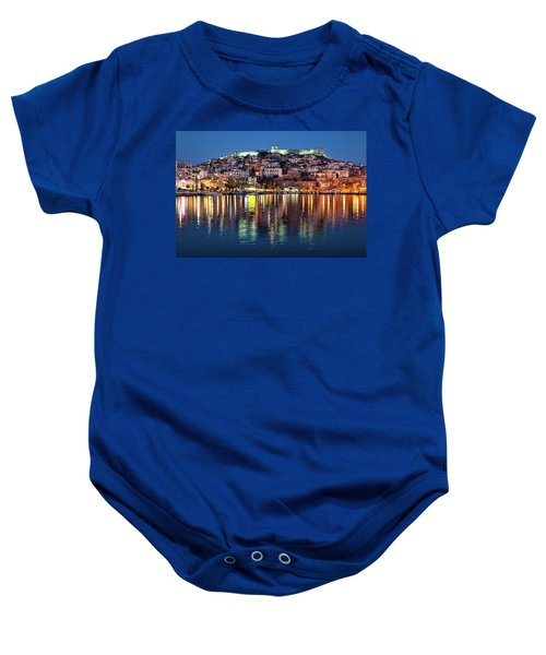 Kavala Town At Night Baby Onesie