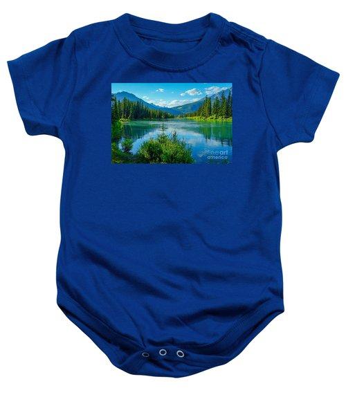 Lake At Banff Indian Trading Post Baby Onesie