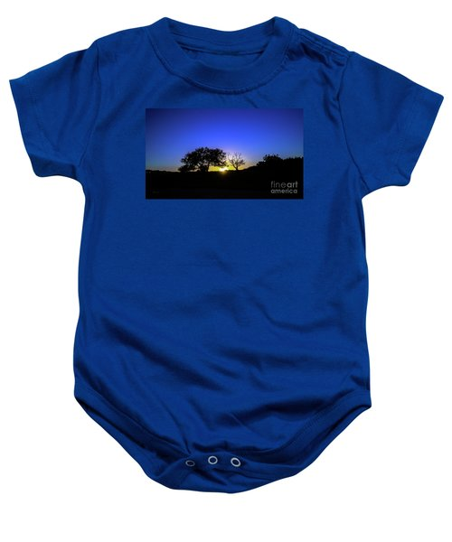 Last Light Texas Hill Country Paradise Canyon Sunset 8053a1 Baby Onesie