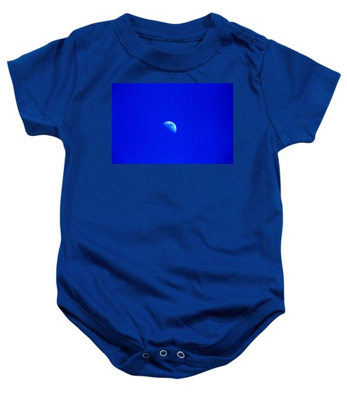 Moon In A Daytime Sky Baby Onesie