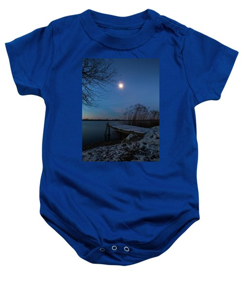 Moonlight Over The Lake Baby Onesie