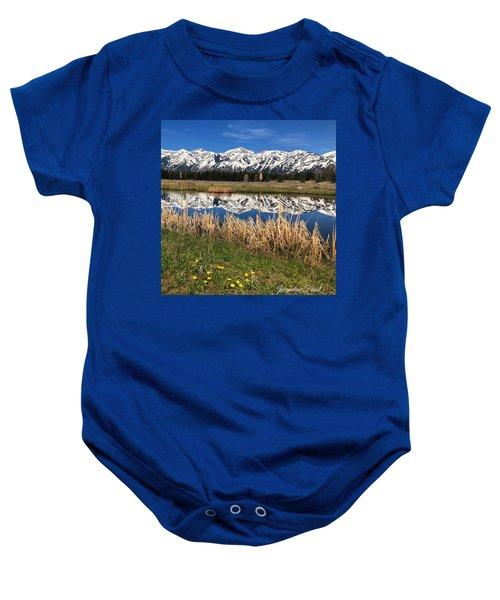 Mountain Reflection Baby Onesie