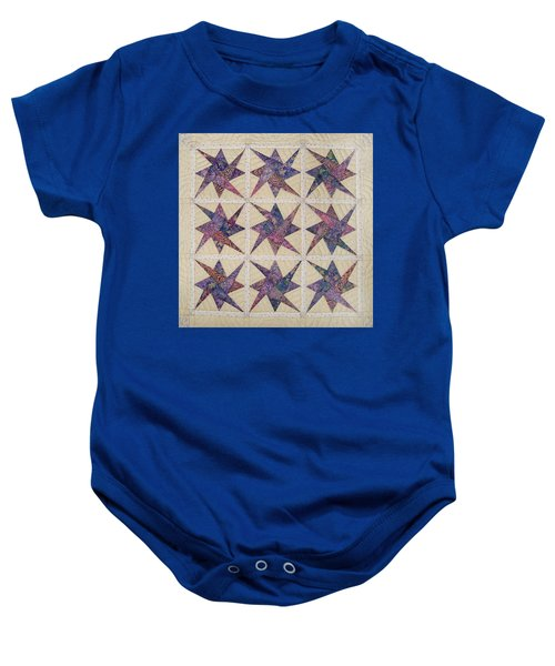 Nine Stars Dipping Their Toes In The Sea Sending Ripples To The Shore Baby Onesie