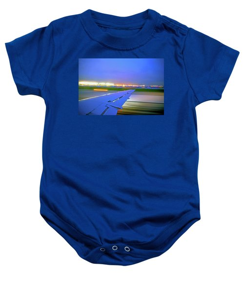 O'hare Night Takeoff Baby Onesie