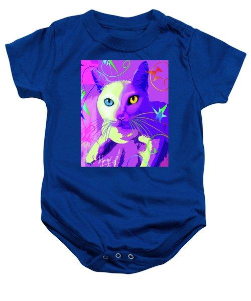 pOp Cat Cotton Baby Onesie