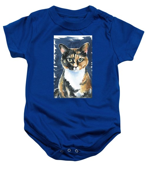 Poppy Calico Cat Painting Baby Onesie
