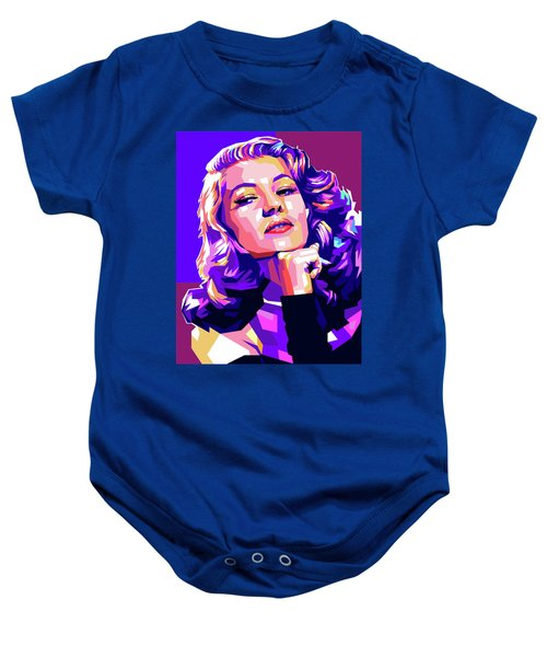 Rita Hayworth Illustration Baby Onesie
