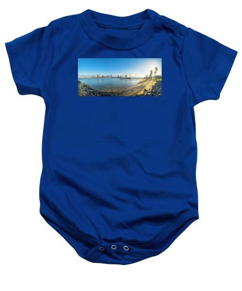 San Diego Bay - Panorama Baby Onesie
