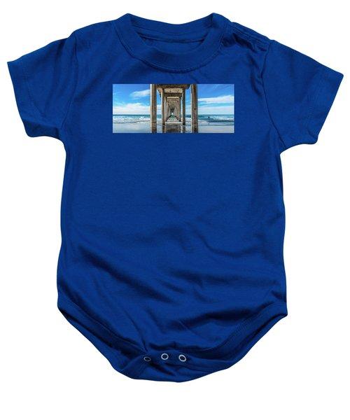 Scripps Pier La Jolla California Baby Onesie