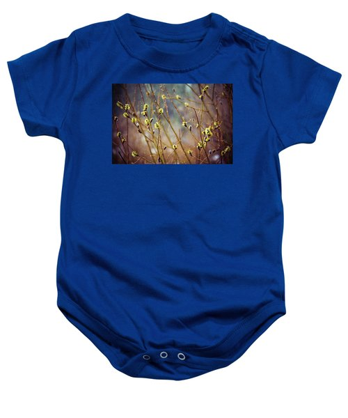 Snowfall On Budding Willows Baby Onesie
