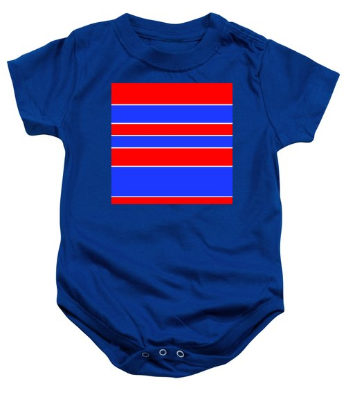 Stacked - Red, White And Blue Baby Onesie