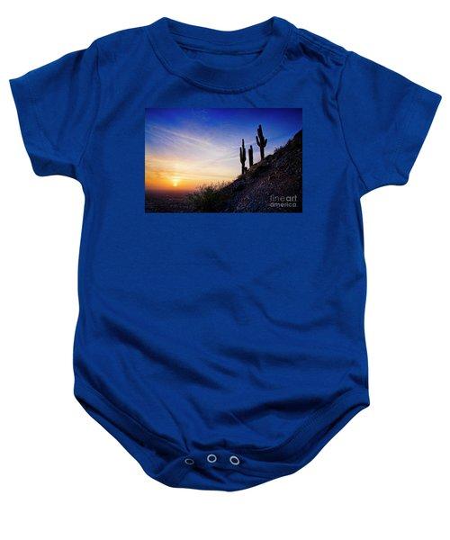 Sunset In The Desert Baby Onesie