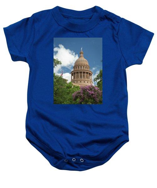 Texas Capital Building Baby Onesie
