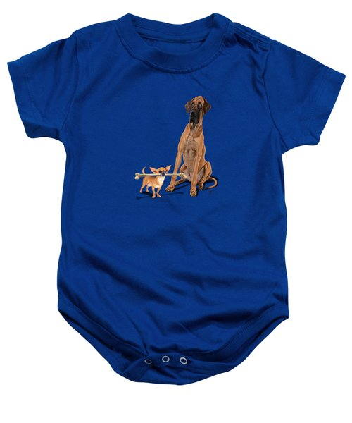 The Long And The Short And The Tall Colour Baby Onesie