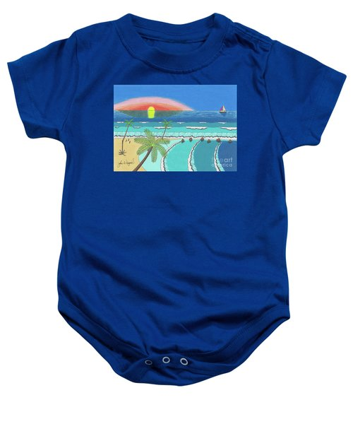 Tropical Sunrise Baby Onesie