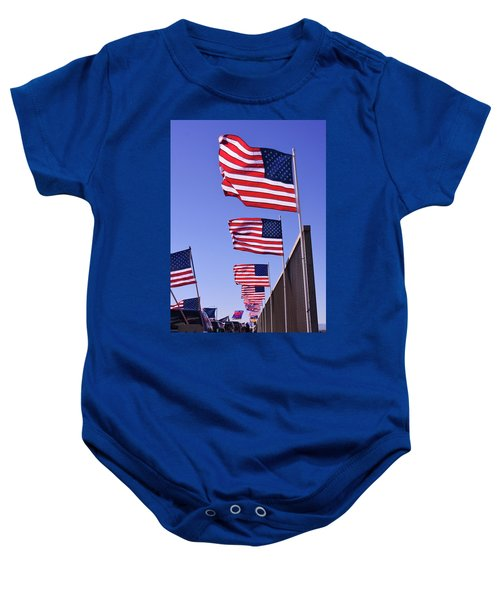 U.s. Flags, Presidents Day, Central Valley, California Baby Onesie