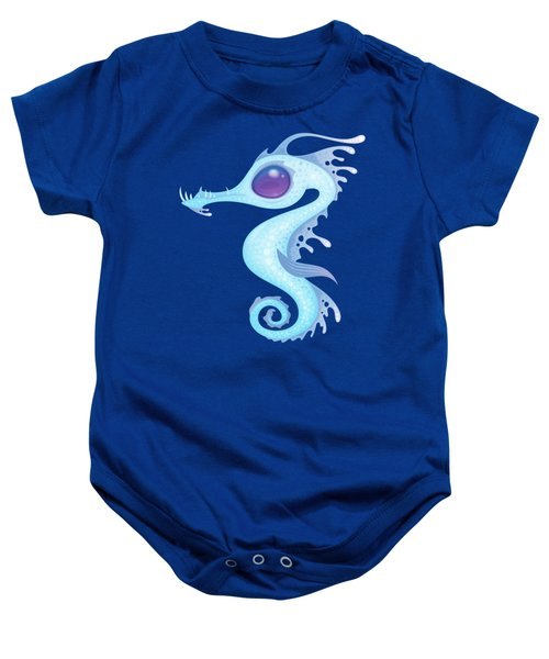 White Sea Dragon Baby Onesie
