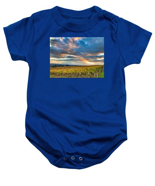 Willamette Valley In Fall Baby Onesie
