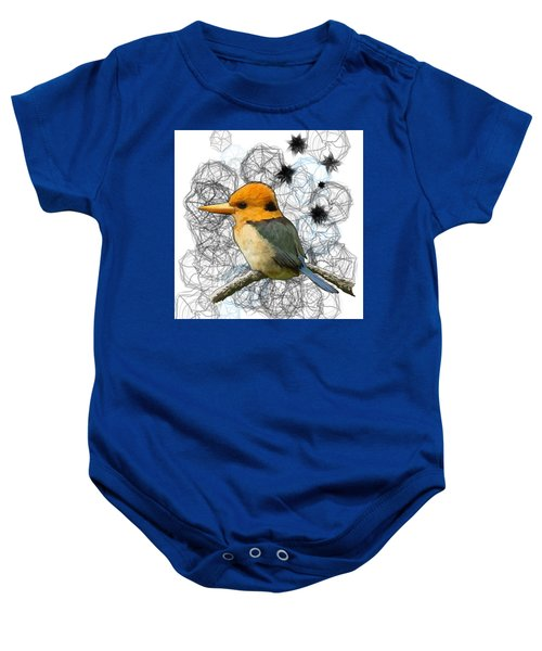 Y Is For Yellow Billed Kingfisher Baby Onesie