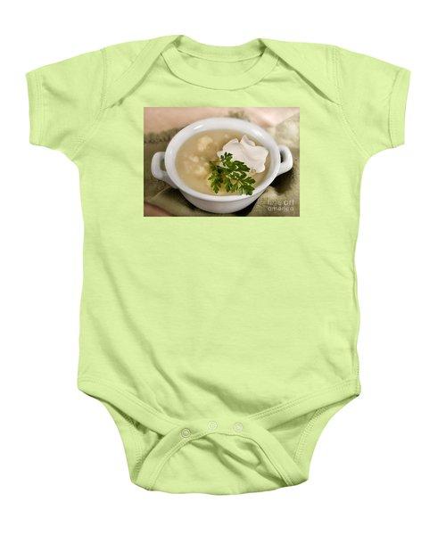 Cauliflower Soup Baby Onesie by Iris Richardson