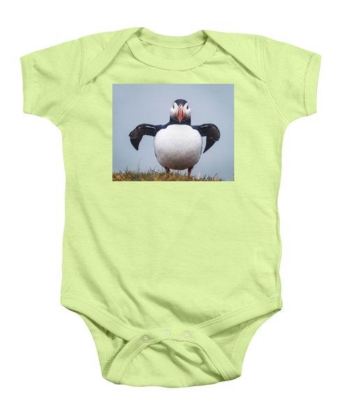 Atlantic Puffin Fratercula Arctica Baby Onesie
