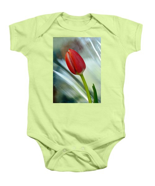 Abstract Tulip Under Glass Baby Onesie