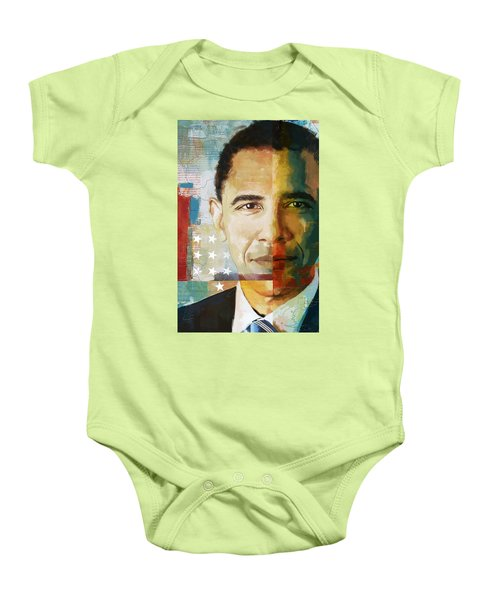 Barack Obama Baby Onesie by Corporate Art Task Force