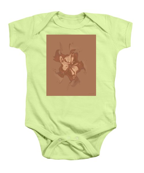 Beige Satin Morning Glory Baby Onesie