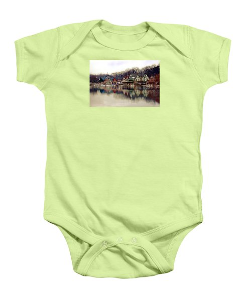 Boathouse Row Philadelphia Baby Onesie