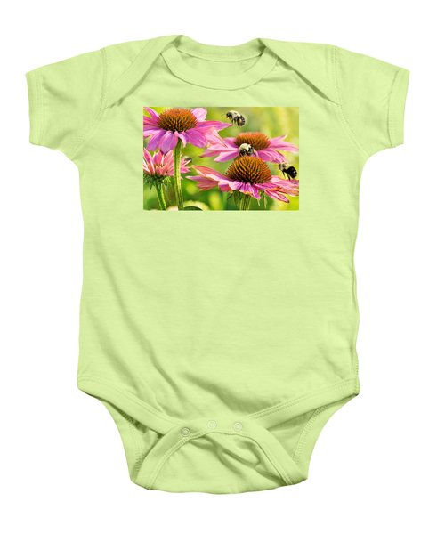 Bumbling Bees Baby Onesie by Bill Pevlor