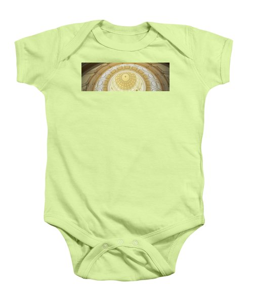 Ceiling Of The Dome Of The Texas State Baby Onesie by Panoramic Images