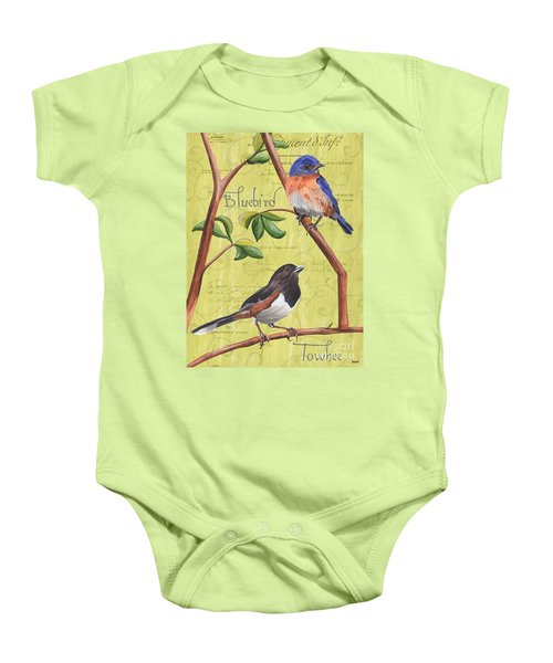 Citron Songbirds 1 Baby Onesie