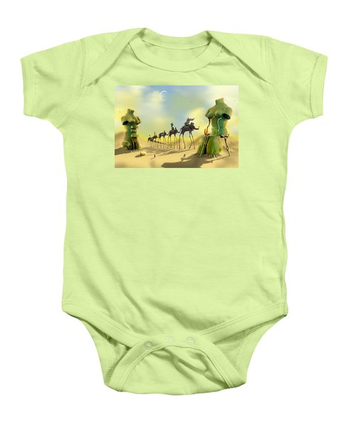 Dali On The Move  Baby Onesie by Mike McGlothlen
