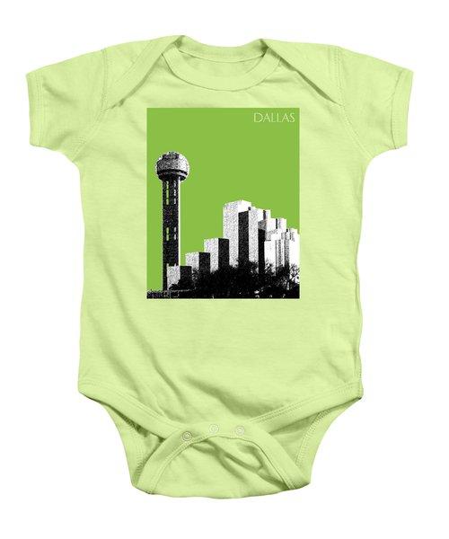 Dallas Skyline Reunion Tower - Olive Baby Onesie
