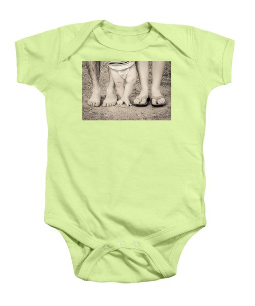 Family Feets Baby Onesie by Bill Pevlor